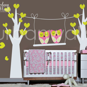 Vinyl Wall Sticker Decal Art - Night Owls