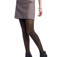 Banana Republic Wool Plaid Button Mini Skirt 12 NWT