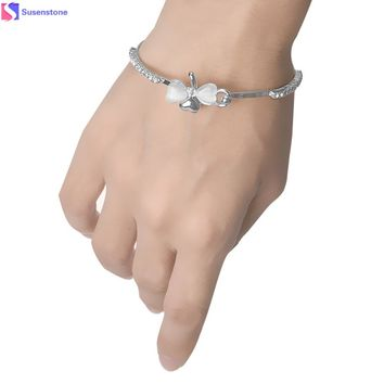 Fashion New Women Jewelry Crysta leaves Cuff Wrist Bangles & Bracelets Good Luck as gift #0