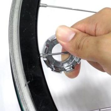 TAIWAN Super B round O-shaped bike bicycle spoke wrench (Fits 7 sizes of spokes 9 to 15 gauge) for spoke tension adjustment