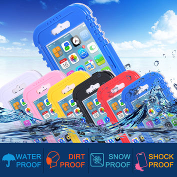 For Iphone 6 Waterproof Case New Version Shockproof Dustproof Waterproof Case For Iphone 6 4.7inch Flip Hard Cover With String