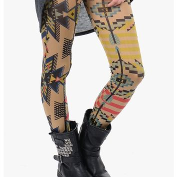 Cafe Pretty In Print Leggings | $10.00 | Cheap Trendy Leggings Chic Discount Fashion for Women | Mod