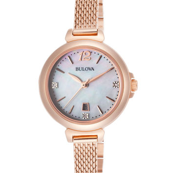 Bulova Women's Quartz Watch, 30mm - Gold