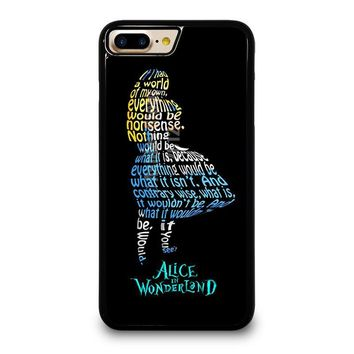 ALICE IN WONDERLAND QUOTE iPhone 4/4S 5/5S/SE 5C 6/6S 7 8 Plus X Case