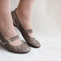 Chocolate Twist - Handmade Leather Ballet flats - CUSTOM FIT