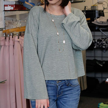 Textured Lightweight Sage Top