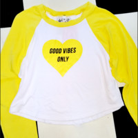 SWEET LORD O'MIGHTY! GOOD VIBES ONLY RAGLAN