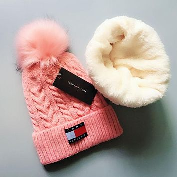 Tommy Hilfiger Autumn Winter New Warm Knit And Pom Hat Cap