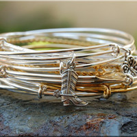 Cowboy Boot Expandable Bangle bracelet, Cowgirl Jewelry, Western Jewelry, Sterling Silver Cowboy Bangle, stacking bangle, adjustable bangle