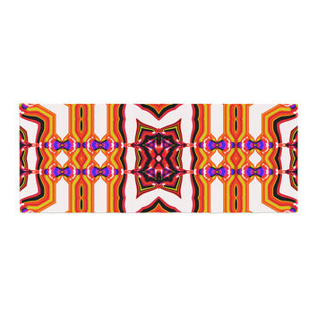 "Dawid Roc ""Inspired By Psychedelic Art 4"" Orange Abstract Bed Runner"