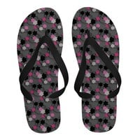 Black and Pink Flower Pattern