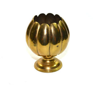 Vintage Brass Lotus Candle Holder Brass Lotus Dish Brass Lotus Incense Burner Lotus Tea Light Holder