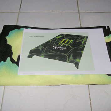 Monster Energy Custom Fleece Blanket