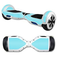 Street Glyder 360 Protective Vinyl Skin Decal for Self Balancing Scooter Hoverboard mini hover 2 wheel unicycle wrap cover sticker Glossy Baby Blue