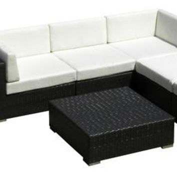 2017 All Weather Outdoor Sofa Sectional Wicker 8 Piece Resin Couch Set