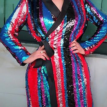 Amanda Multicolored Sequin Jacket