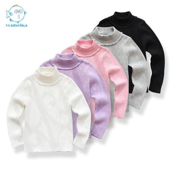Kids Cardigan Sweaters For Girl Turtleneck Children Clothes For Kids Knitted Sweater Baby Girl Cardigan Children Sweaters Girls