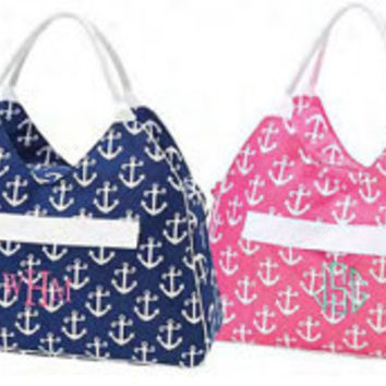 Monogram Large Beach Bag/ Pool Bag/ Pool Tote/ everyday Tote/ BOAT TOTE-