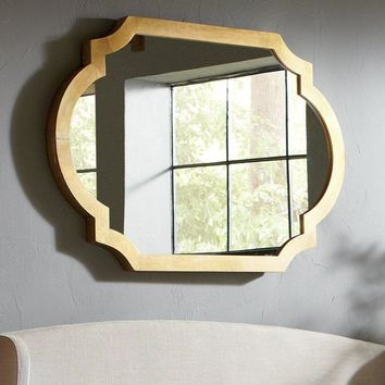 Gold Geometric Mirror
