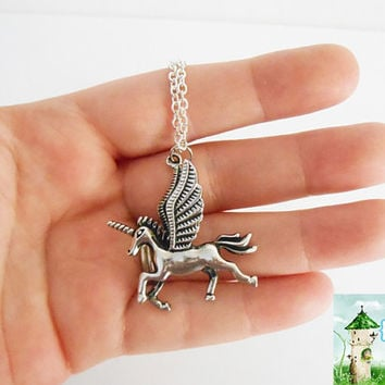 Once Upon a time Fairytale Fantasy Alicorn Unicorn Pegasus Necklace
