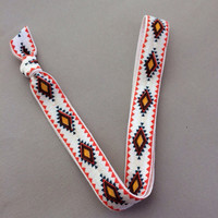 "Rust New Age Tribal 5/8"" Elastic Headband"