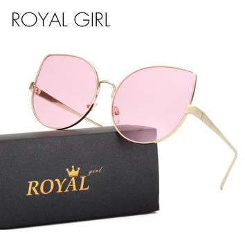ROYAL GIRL Cool Cat Eye Sunglasses Women Oversize Retro Vintage Ombre Summer 2017 Glasses ss929