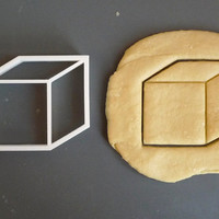 Cube 3D cookie cutter 2, 3D printed