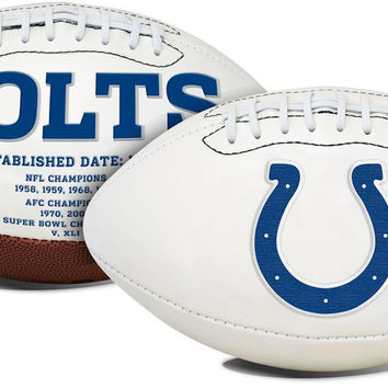 Indianapolis Colts Football Full Size Embroidered Signature Series