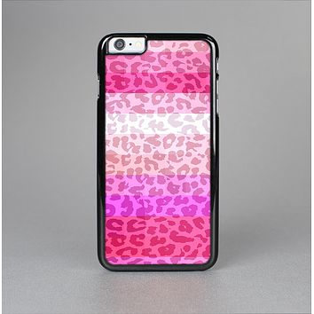 The Hot Pink Striped Cheetah Print Skin-Sert Case for the Apple iPhone 6