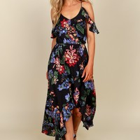 Beautiful Mind Floral Maxi Black