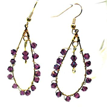Amethyst Earrings - LinorStore Jewelry & Kippah