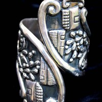 Vintage Villasana Sterling Silver clamper cuff by abroochable
