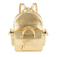 Modern Gold Vintage Backpack by Buscemi