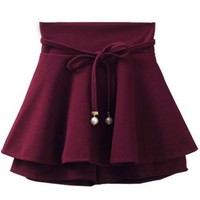 High Waist A-line Skirt - OASAP.com