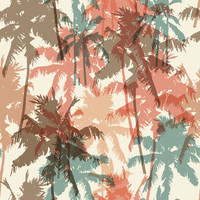 Summer Palm Trees Removable Wallpaper