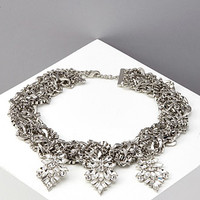 Chunky Rhinestone Statement Necklace