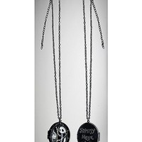 Nightmare Before Christmas Jack Sally Cabachon Necklace - Spencer's