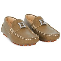 Olive Zucca Leather Loafers