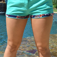 Southern Marsh Brighton Paisley Short- Bimini Green
