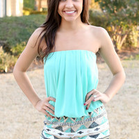 Sequin Romper - Mint