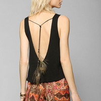 Staring At Stars Feather-Back Tank Top - Urban Outfitters