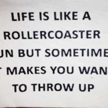 life is like a rollercoaster bag by pamelabarskyshop on Etsy