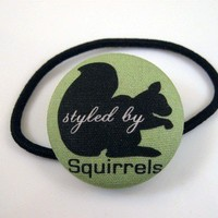 $6.25 Styled by Squirrels Hair Tie or Hair Clip by DiamondRhino on Etsy