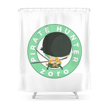 Society6 One Piece - Pirate Hunter Zoro (My Syle) Shower Curtains
