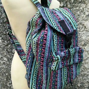 Ethnic Boho Tribal Backpack Festival Bags Laptop Diaper Aztec Ethnic Hippies Ethnic Hobo Hipster Native Pattern For School Messenger Cute