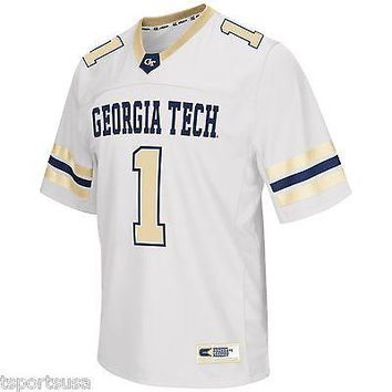 "GA Tech Yellow Jackets Football Jersey NCAA ""Spike It"" Football Jersey"