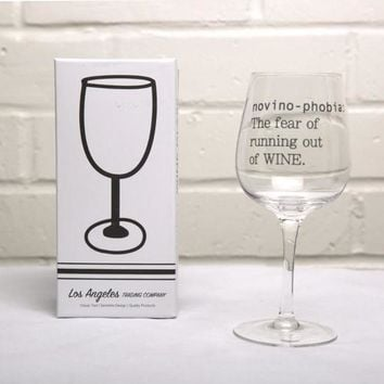 Wine Glass- Novino Phobia