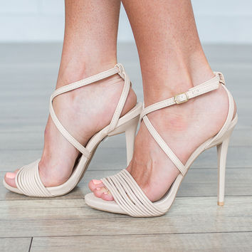 Upper Class High Heels - Cream