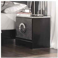 Black Wooden 1 Drawer Nightstand Modern Bedroom Furniture End Table Stand New