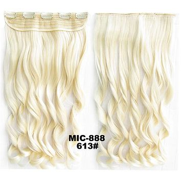 Bath & Beauty 5 Clip in synthetic hair extension hairpieces wavy slice curly hairpiece MIC-888 613#,Hair Care,fashion Cosplay ombre 1PC